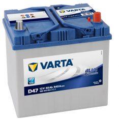 VARTA 60Ah 540A BLUE Dynamic J R+ d47