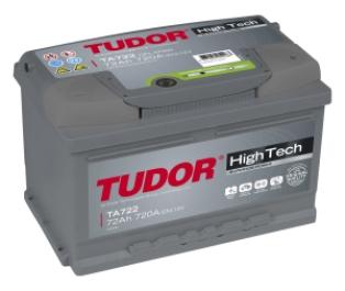 TUDOR High Tech 72Ah 720A R+TA722