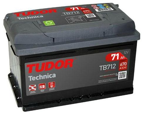 TUDOR Technica 71Ah 670A R+TB712
