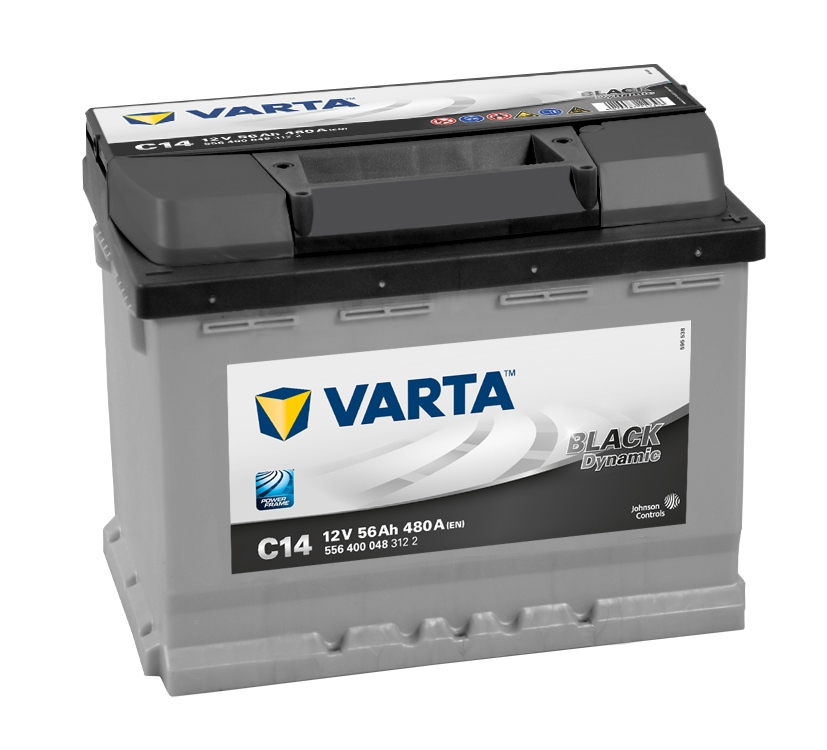 VARTA 56Ah 480Ah BLACK Dynamic R+ C14