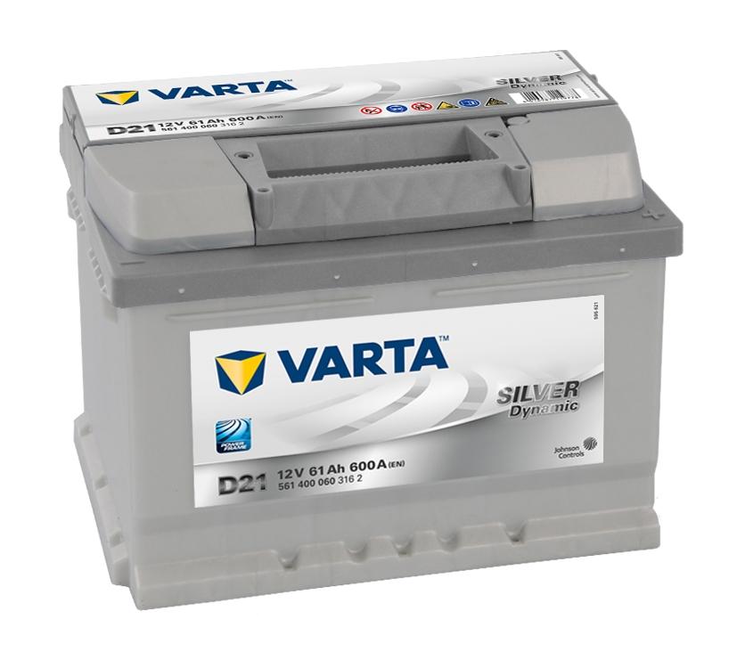 VARTA 61Ah 600A SILVER Dynamic D21