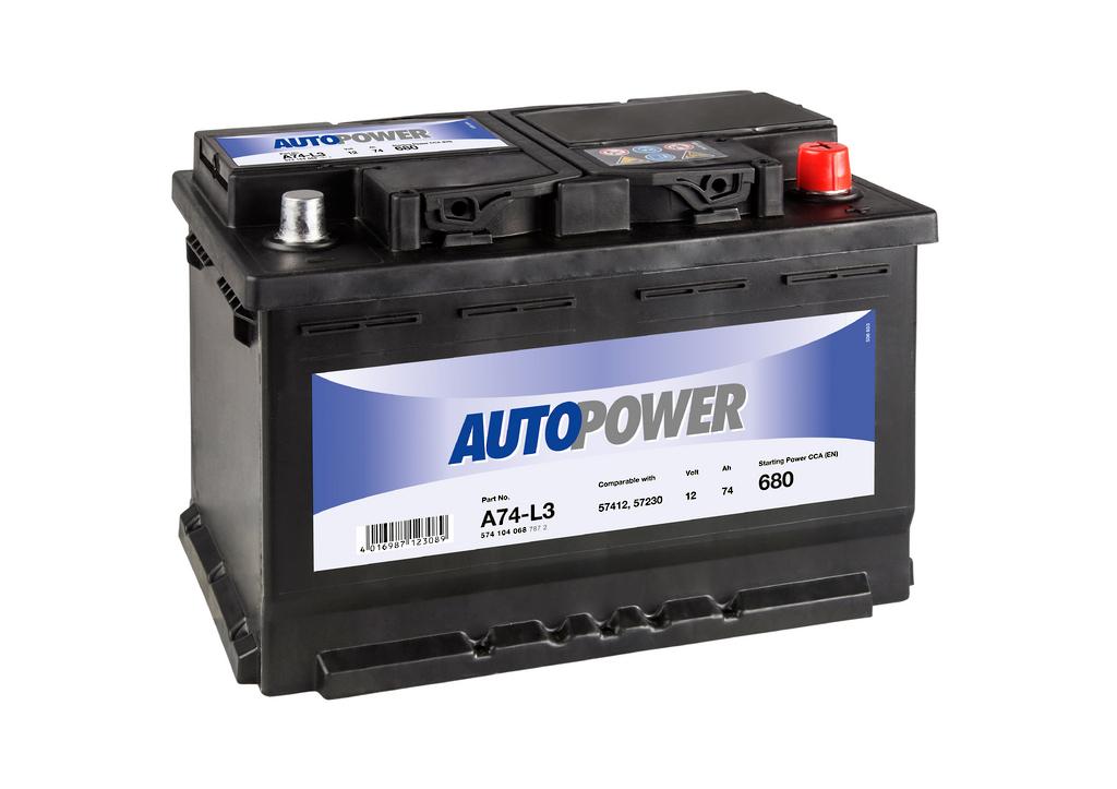AUTOPOWER 74Ah 680A R+ A74-L3