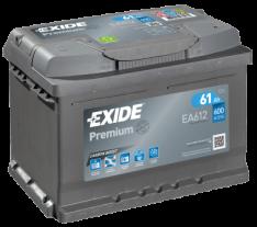 Exide Premium 61Ah 600A R+ EA612