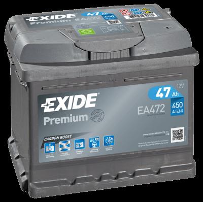 Exide Premium 47Ah 450A R+ ea472