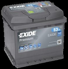 Exide Premium 53Ah 540A R+ EA530
