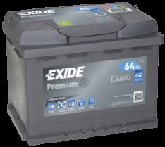Exide Premium 64Ah 640A R+ EA640