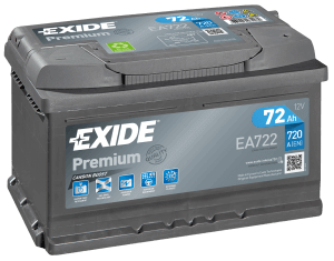 Exide Premium 72Ah 720A R+ EA722