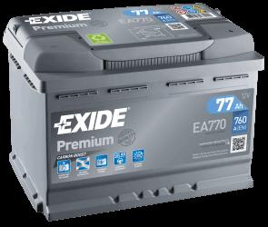 Exide Premium 77Ah 760A R+EA770