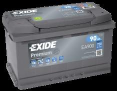 Exide Premium 90Ah 720A R+ EA900