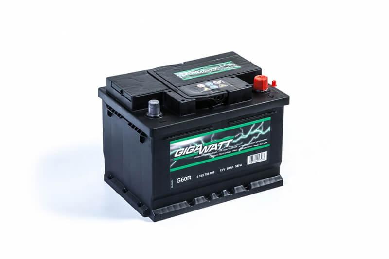 Gigawatt 60Ah 540A R+ G60R