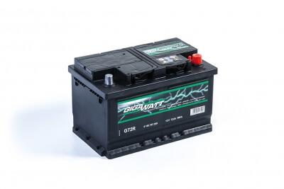 Gigawatt 72Ah 680A R+ G72R
