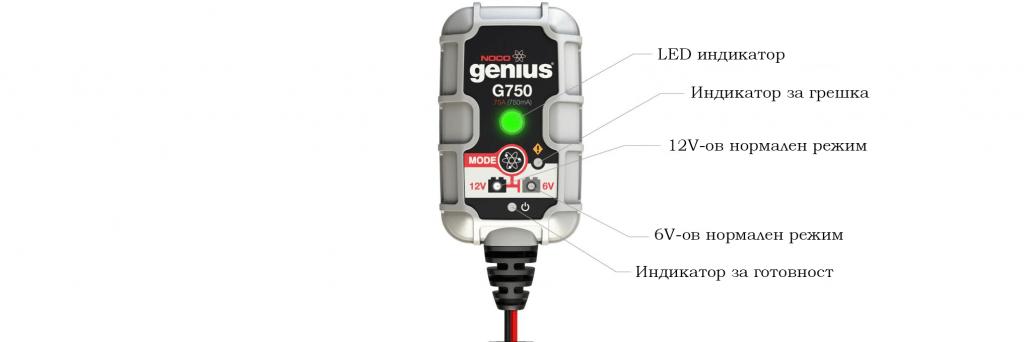 Зарядно Noco G750 6/12 V 0.75A