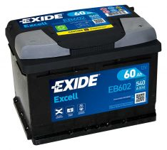 Exide Excell 60Ah 540A R+ EB602